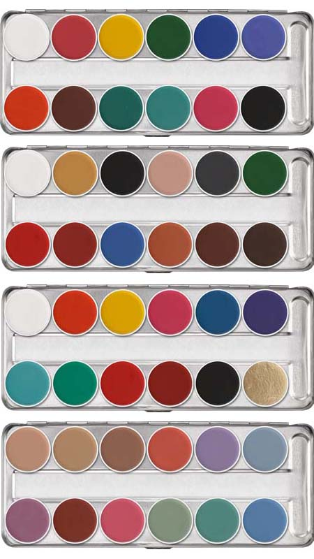 Maquillage aquacolor Kryolan : palette aquacolor