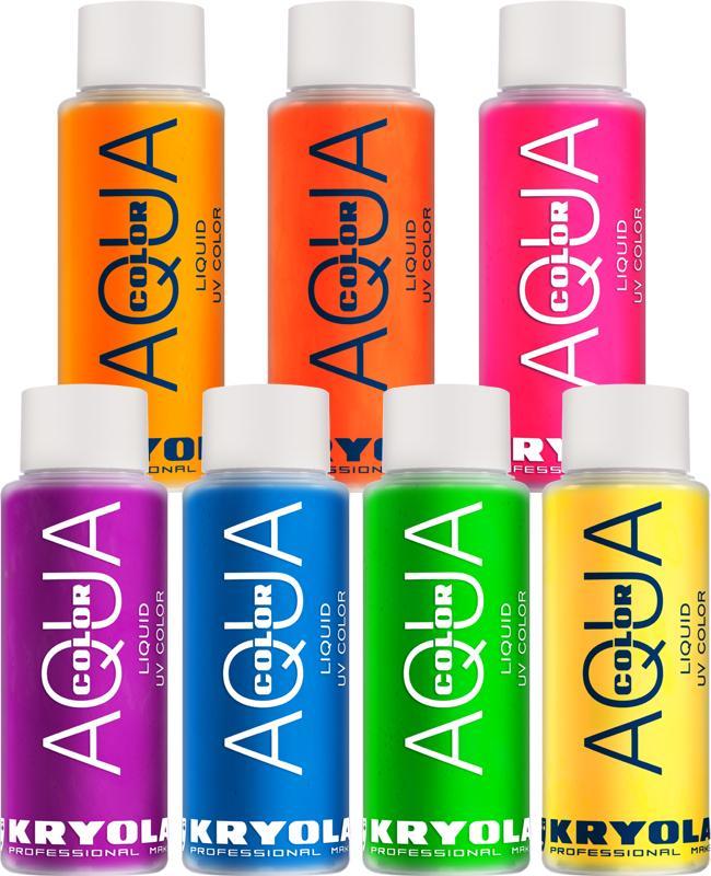 Maquillage liquide aquacolor phosphorescent Kryolan