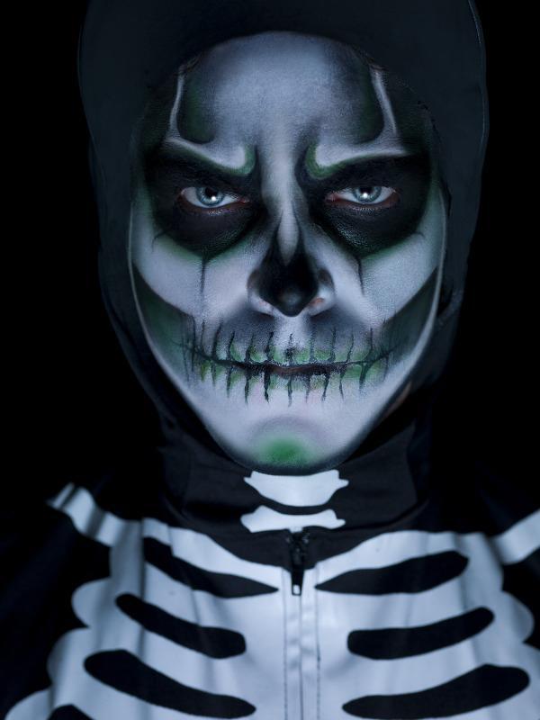 Maquillage Squelette Phosphorescent pas cher