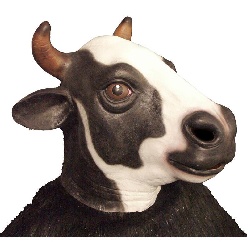 Masque adulte vache en latex pas cher