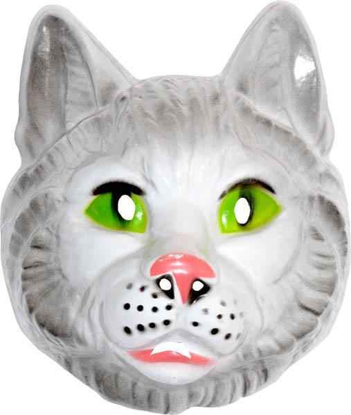 Masque chat grand modèle en plastique