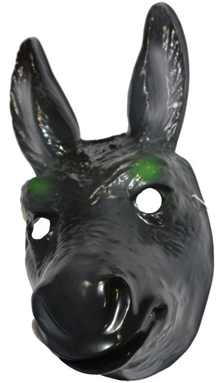 Masque d'âne en plastique pour adulte et enfant