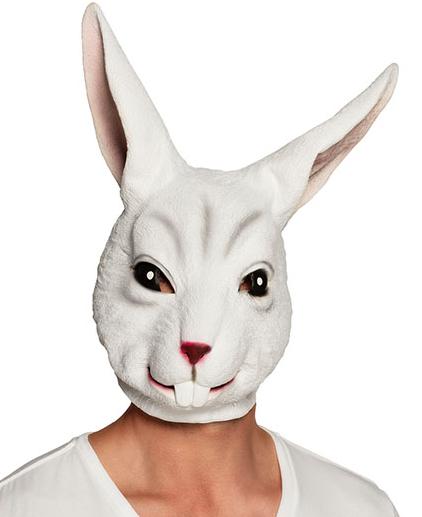 masque lapin en latex pas cher