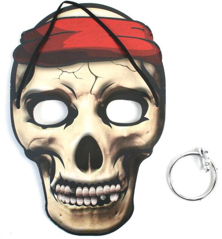 Masque pirate avec boucle d'oreilles pas cher
