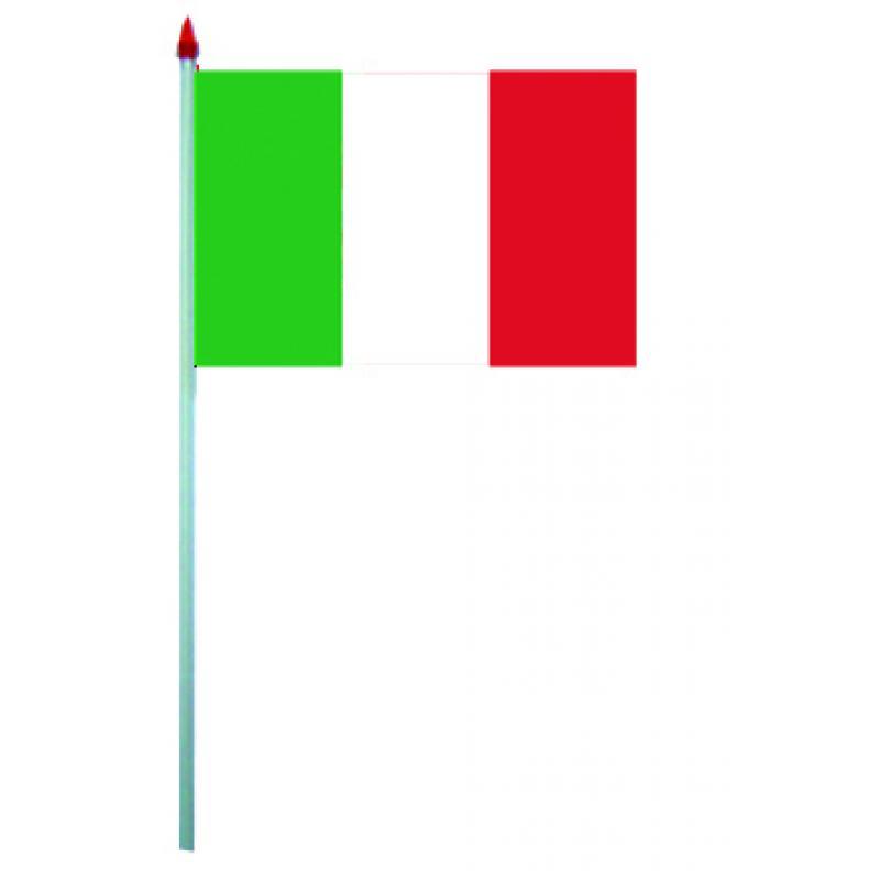 Mini drapeaux Italie en plastique pas cher