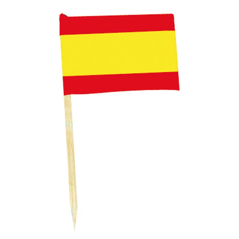 Mini drapeaux espagne avec pic en bois pas cher