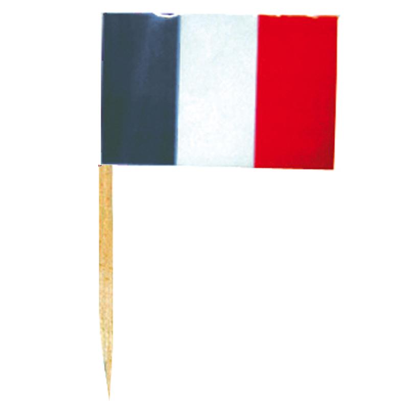 mini drapeaux france sur piques en bois pas cher