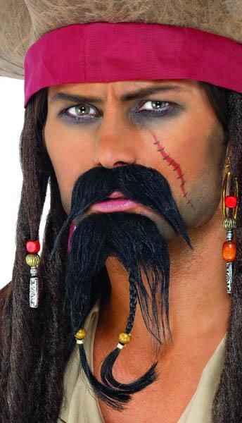 Moustache Pirate des Caraïbes pas cher