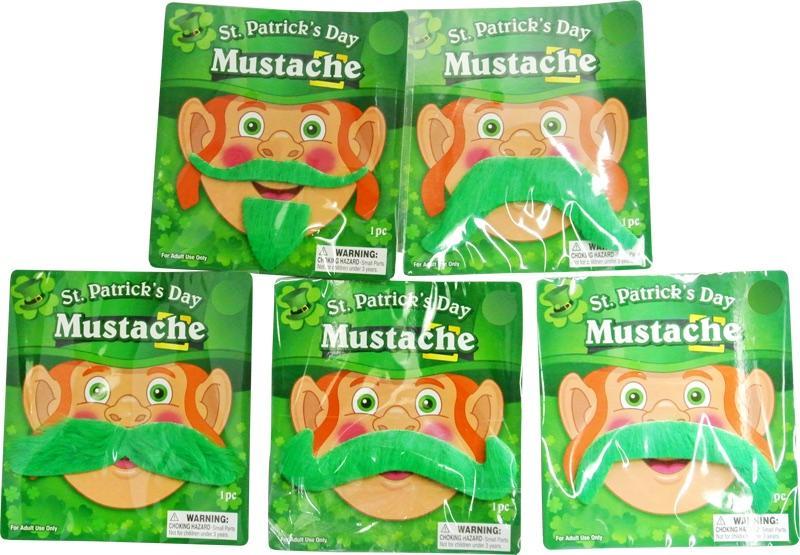Moustache verte Saint Patrick pas cher