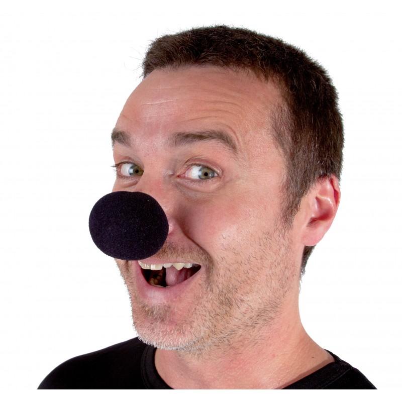 Nez de clown en mousse noir pas cher