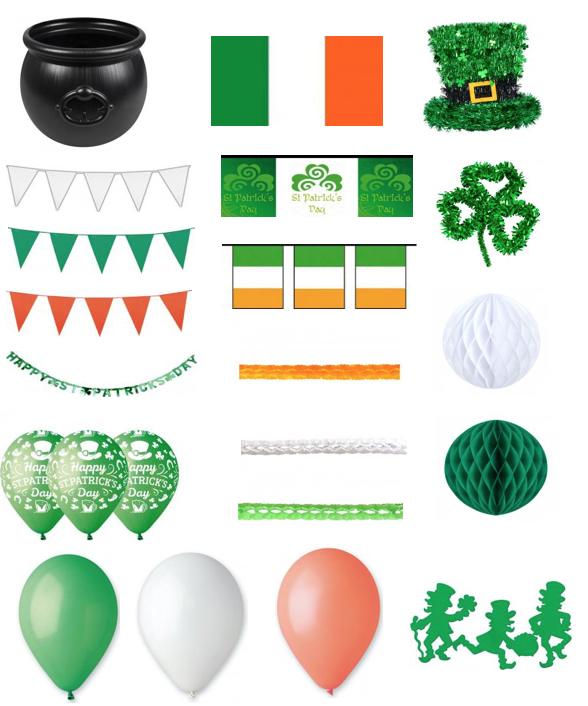 Pack de décorations Saint Patrick XXL à petit prix