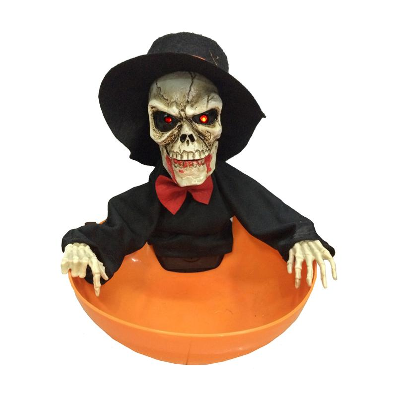 Panier à bonbons squelette