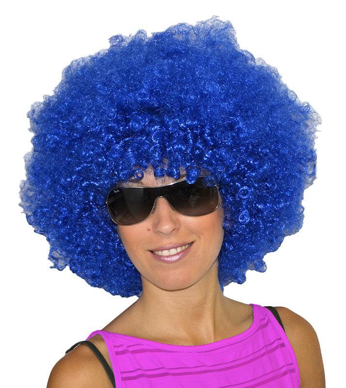 Perruque Afro Bleue pas cher