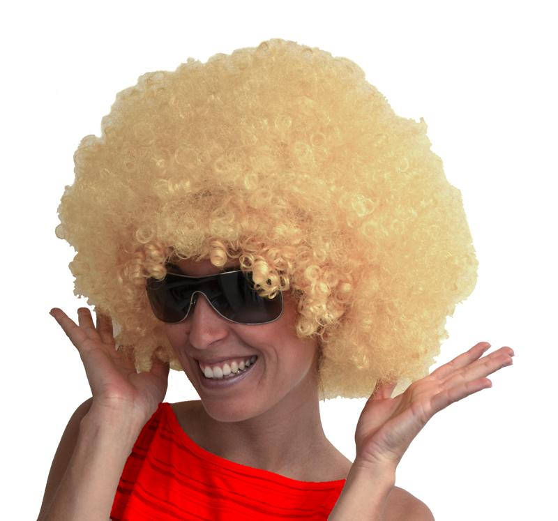 Perruque Afro Blonde pas cher