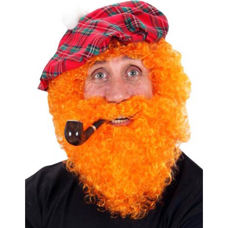 Perruque et barbe rousse Saint Patrick
