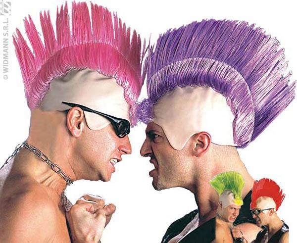 Perruque Punk avec crête pas cher