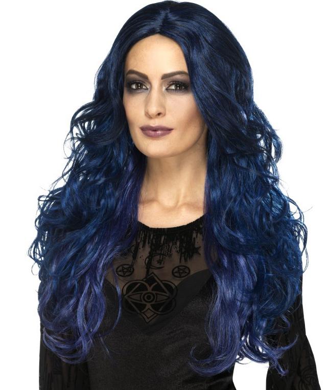 Perruque sirène bleue pas cher