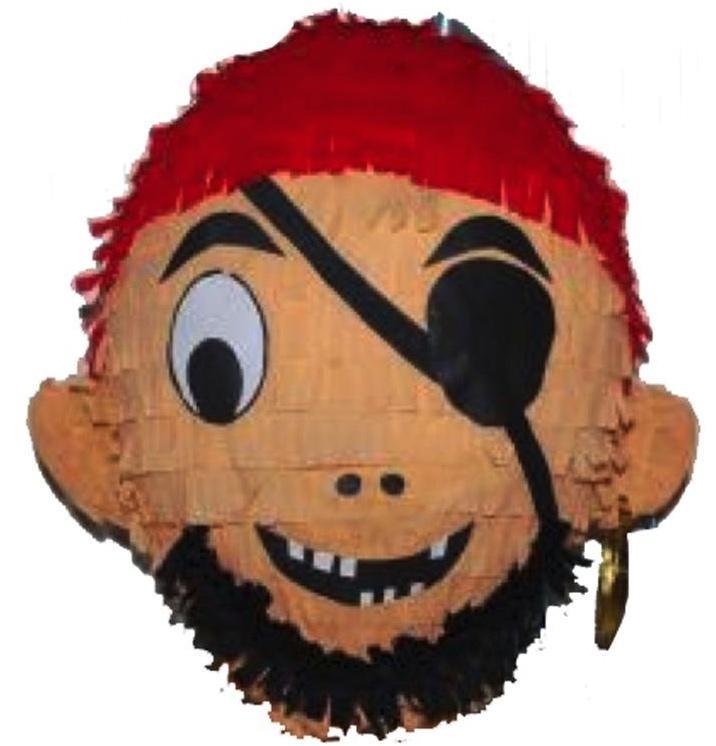 Pinata tête de Pirate pas cher