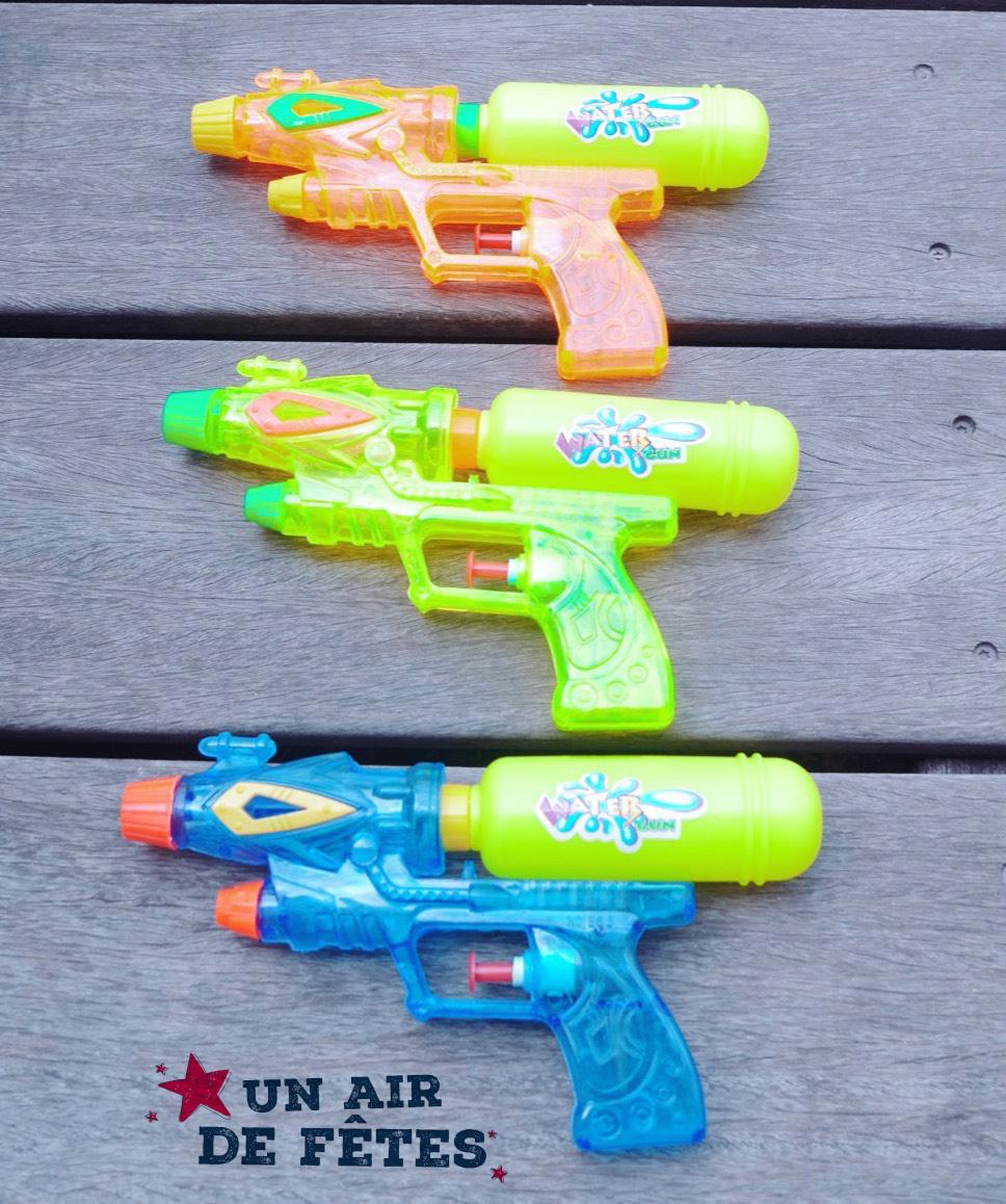 Pistolet à eau 2 jets pas cher 21 cm