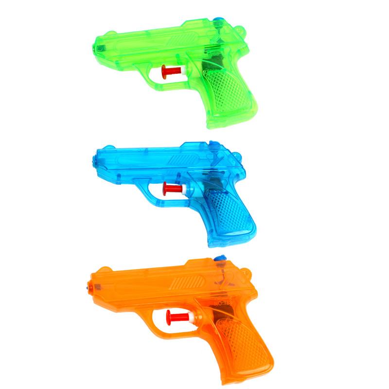 Pistolet à eau en plastique 12 cm pas cher