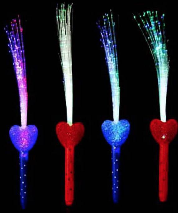 Plumeau lumineux en forme de coeur pas cher