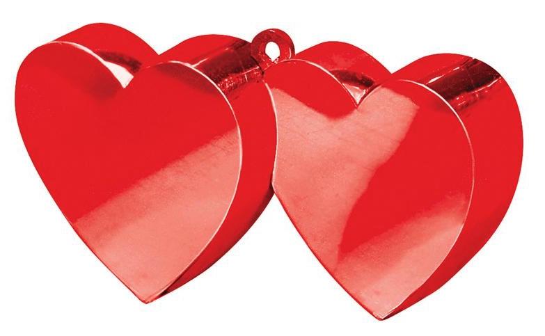 Poids à ballon double coeur rouge pas cher