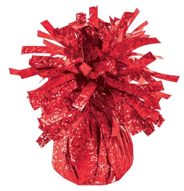 Poids à ballon holographique rouge pas cher
