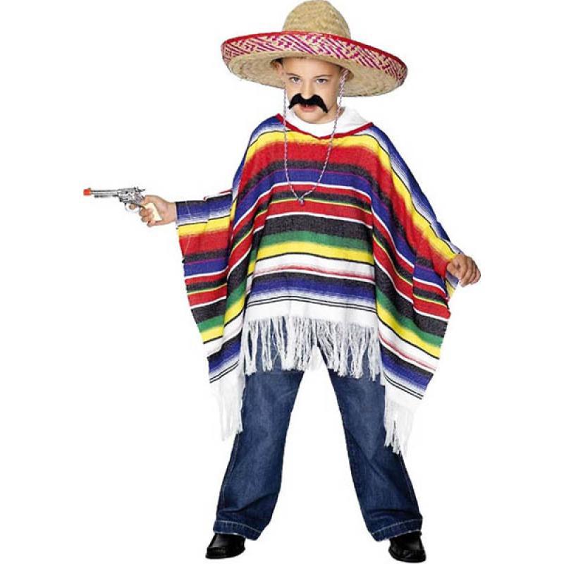 Poncho mexicain pas cher