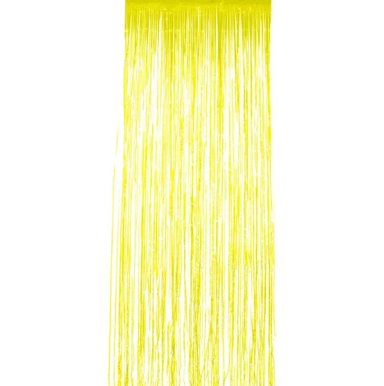 Rideau à lamelles jaunes pas cher