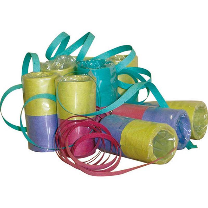 Rouleau de 10 Serpentins Multicolores pas cher