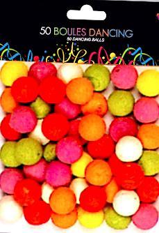 Sachet 50 Boules Dancing multicolore pas cher
