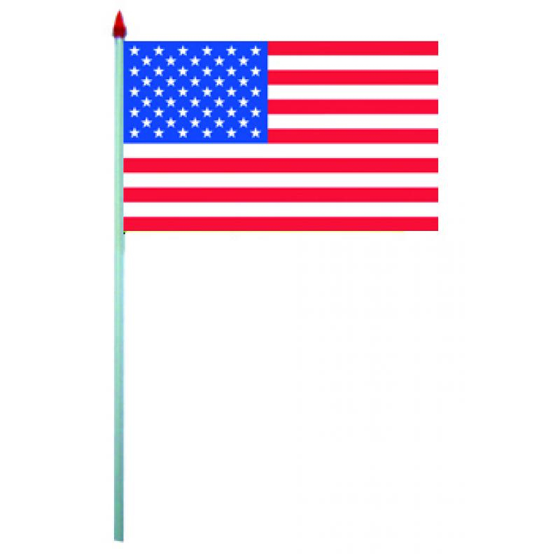 Sachet de 10 drapeaux usa plastique pas cher