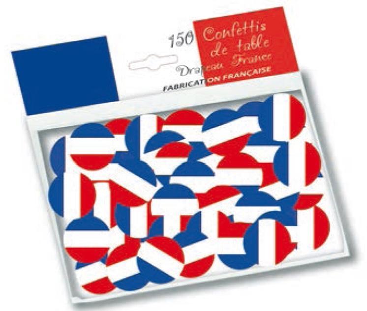 Sachet de confettis drapeau France