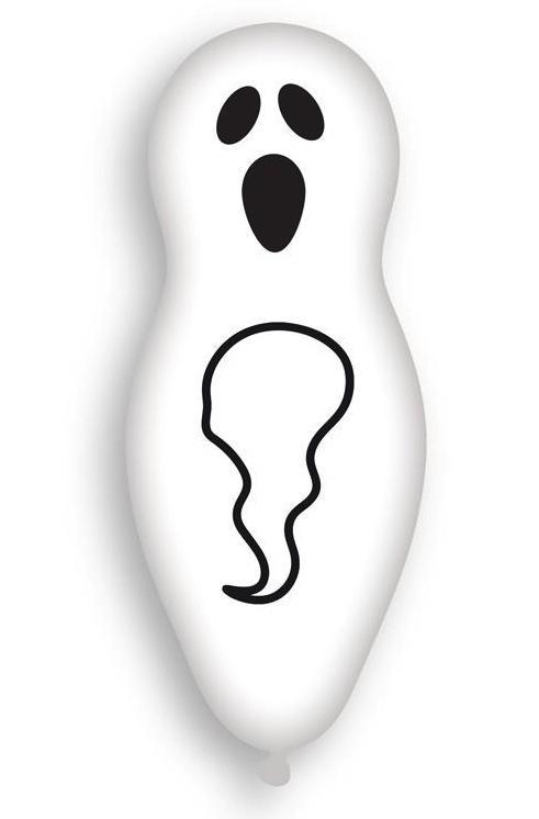 sachet de 4 ballons en forme de fantôme pas cher