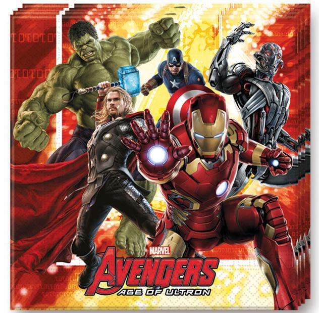 Serviettes Avengers pas cher