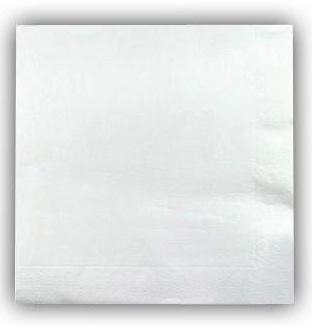 Serviettes Blanches 20 x 20 cm pas cher