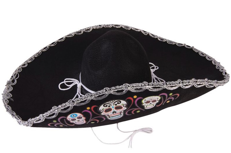 Sombrero Dia De Los Muertos pas cher