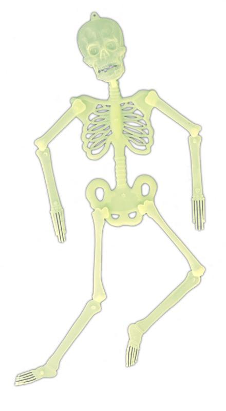 Décoration squelette phosphorescent pas cher