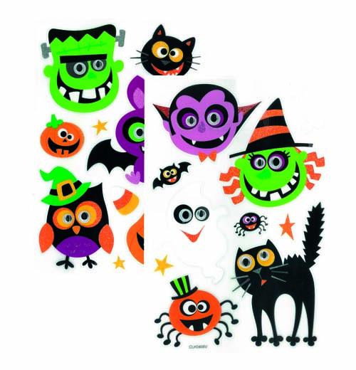 Sticker halloween avec yeux mobiles pas cher