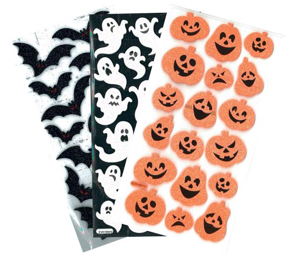 Stickers Halloween paillettes pas cher