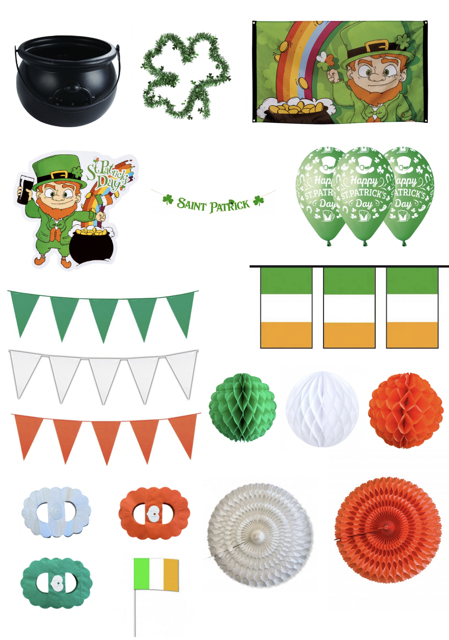 Super pack de décorations Saint Patrick pas cher