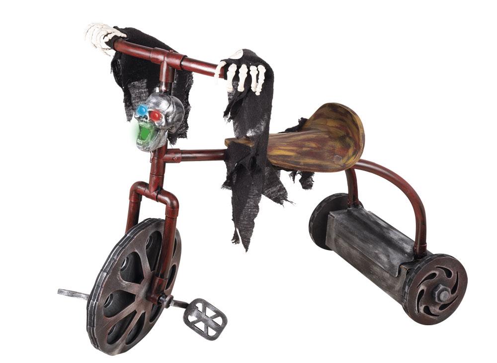 Décoration tricycle hanté animé pour Halloween